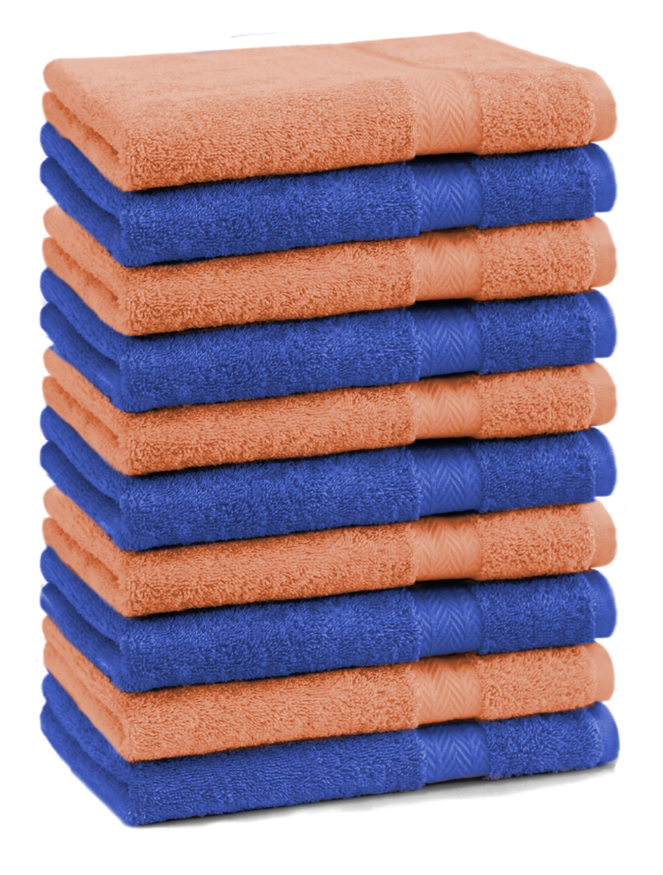 Betz 10 Gästehandtücher Gästetuch Handtücher PREMIUM 30x50cm hellblau//royalblau
