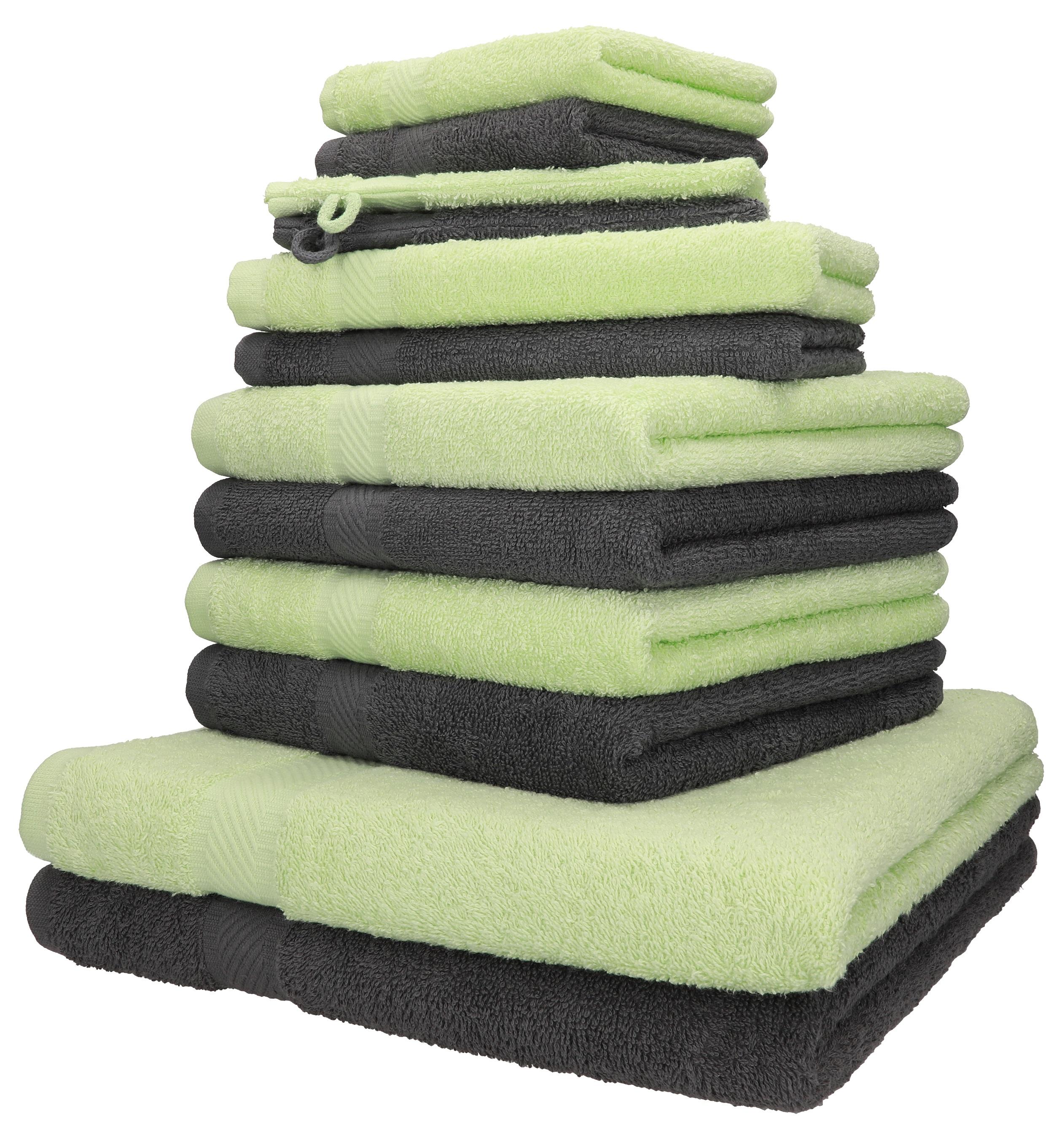 Handtuch-Set PREMIUM 100/% Baumwolle 2 Duschtücher 4 Gästetücher Betz 6-tlg