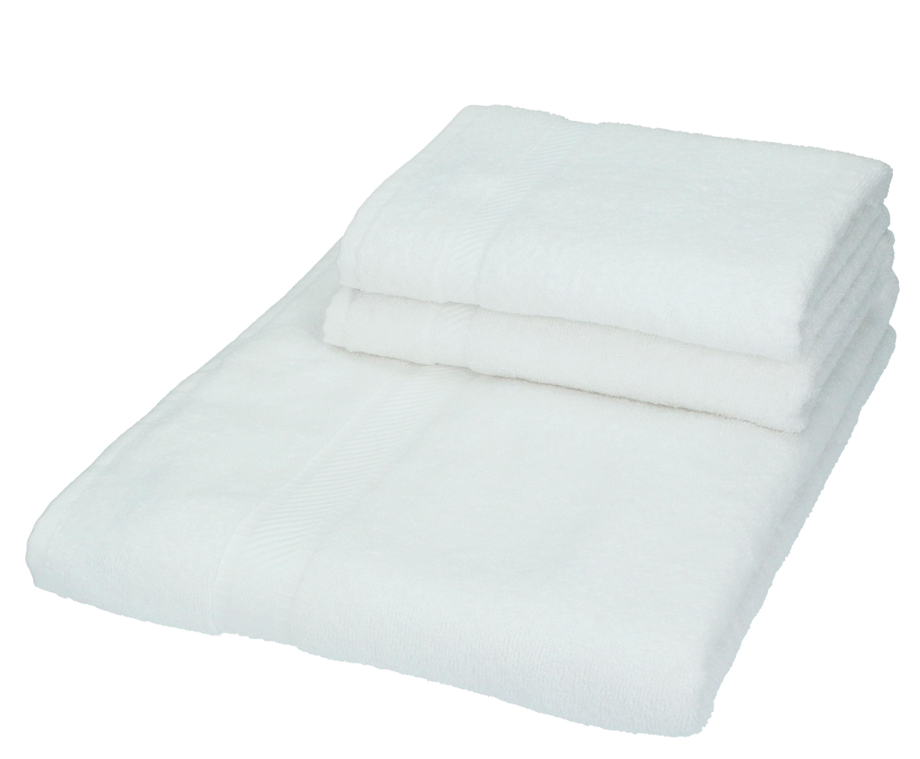 betz lot de 1 serviette sauna 2 serviettes de toilette palermo blanc ebay. Black Bedroom Furniture Sets. Home Design Ideas