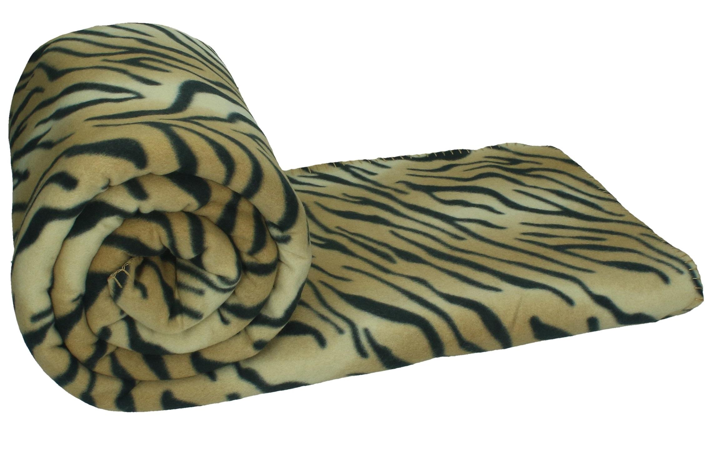 Betz couverture polaire avec motif tigre taille 140 x 190 cm - Tigre polaire ...