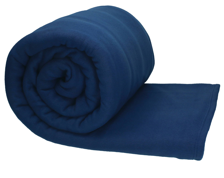 betz jumbo fleecedecke kuscheldecke in xxl gr e 220x240 cm farbe dunkel blau. Black Bedroom Furniture Sets. Home Design Ideas
