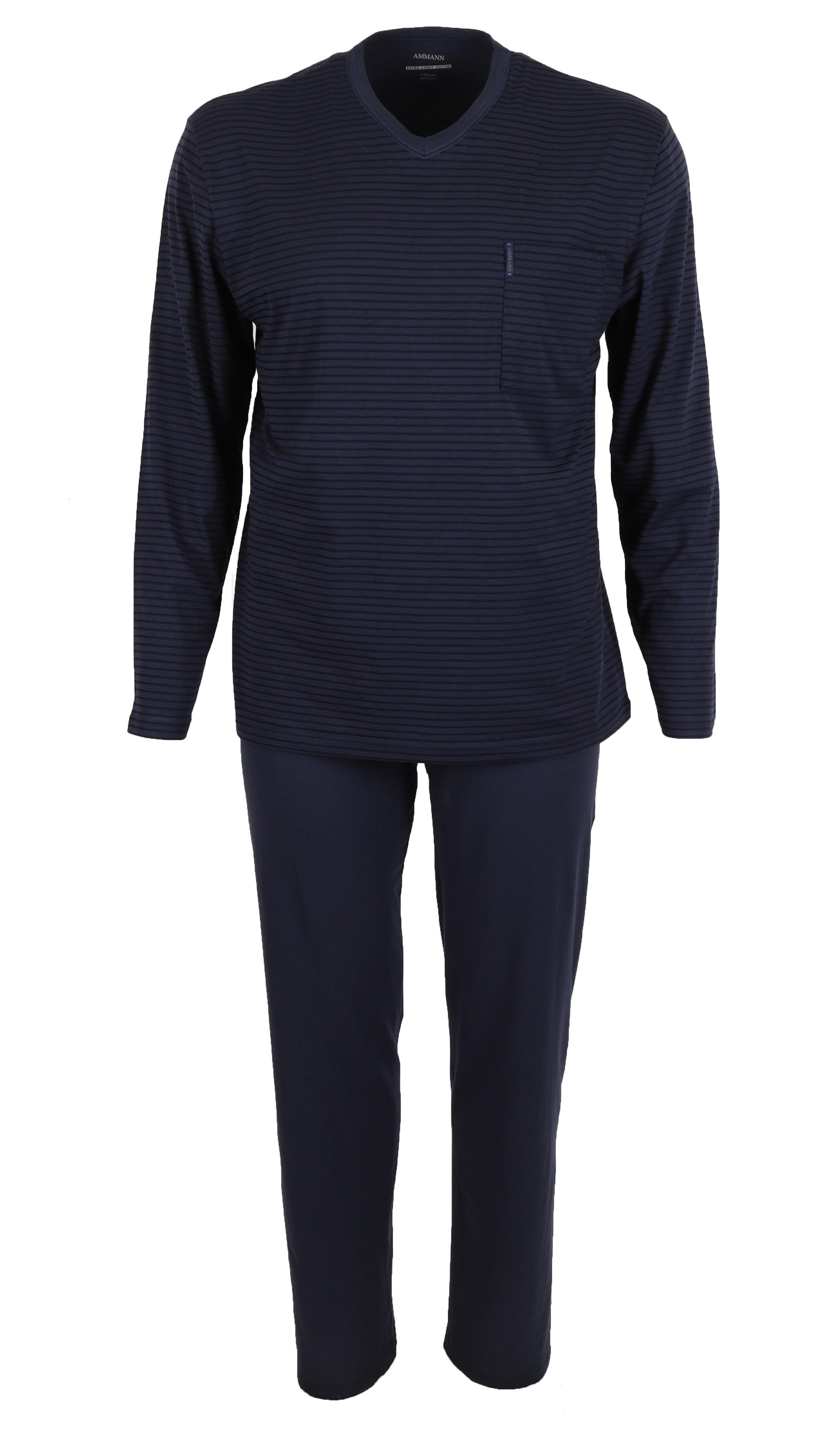 pyjama long pour homme 2 pi ces couleur total eclipse bleu fonc 100 coton taille 48 56 de. Black Bedroom Furniture Sets. Home Design Ideas