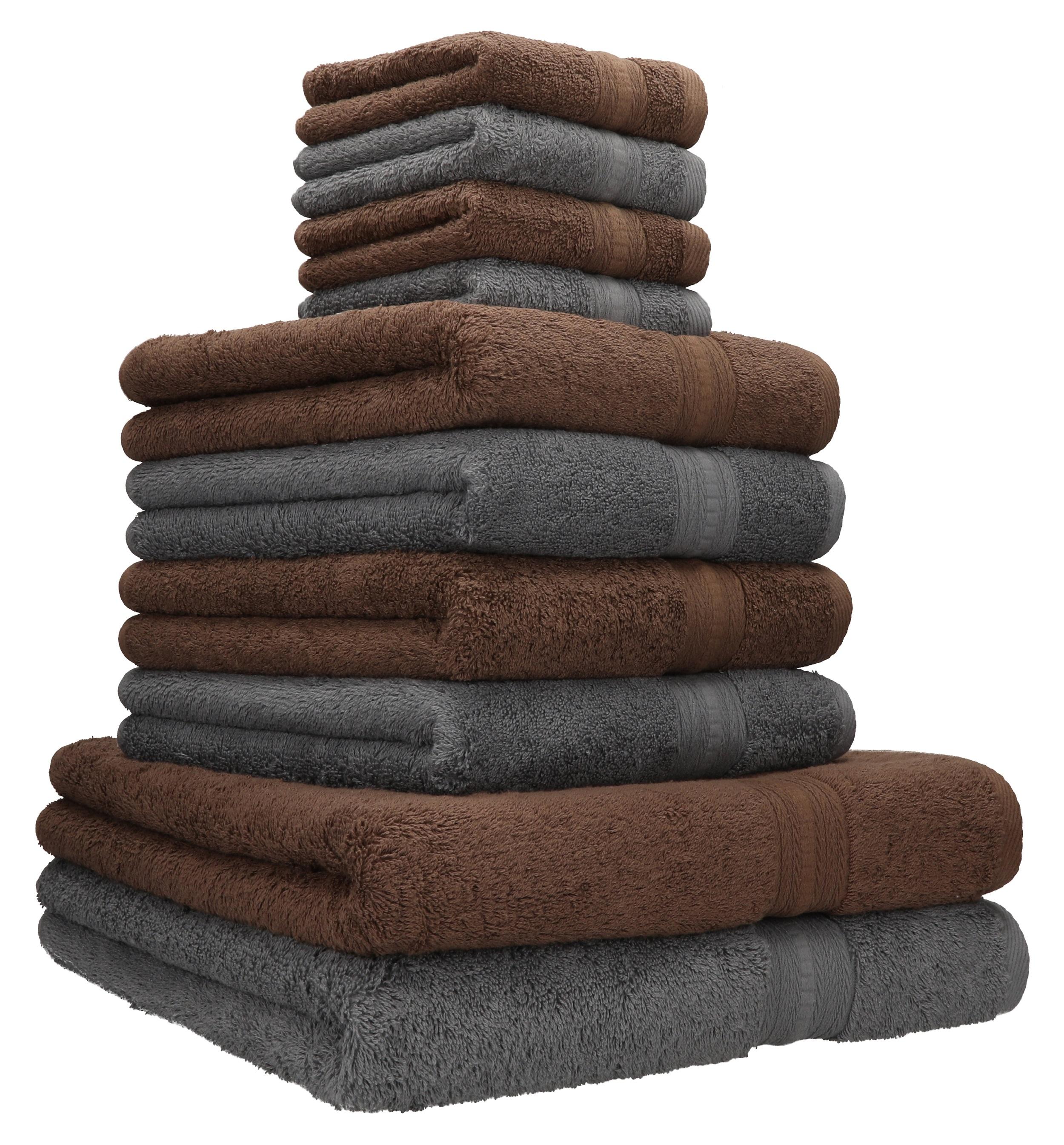 Handtuch Set 2er 4er 8er 10er 100/% Baumwolle Duschtuch Gästetuch Frottee Fußtuch
